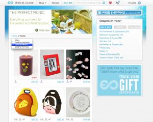 Screenshot of Ethical Ocean website