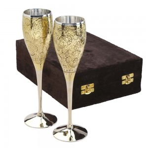 Embossed Silver-Plated Goblets