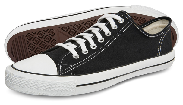 Ethlectic Black and White Low-Top Sneakers