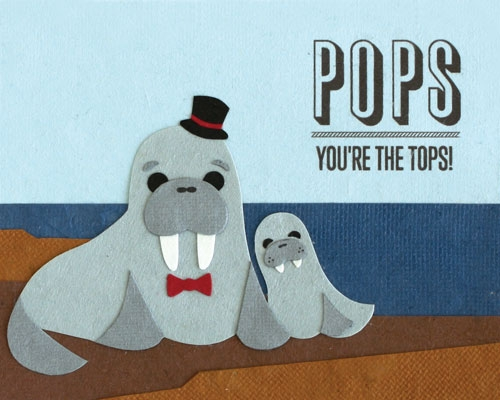 Pops You're the Tops Card