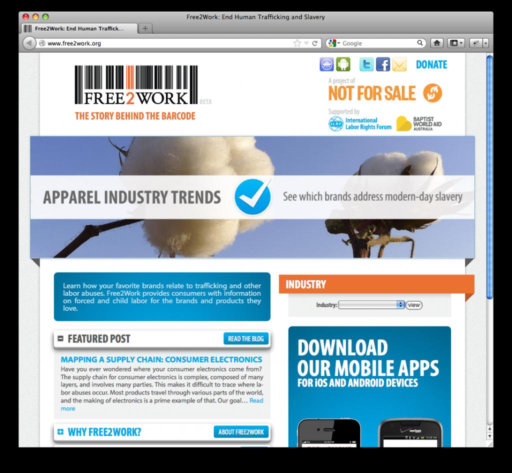 Free2Work website
