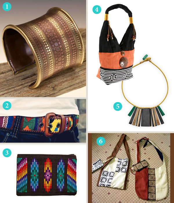 Tribal items from various retailers