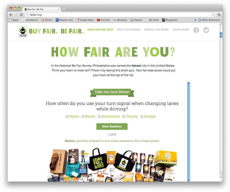 Be Fair website screenshot