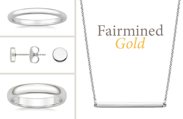 Fairmined gold jewelry from Brilliant Earth