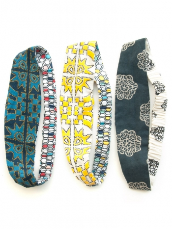 Reversible headbands from Mata Traders