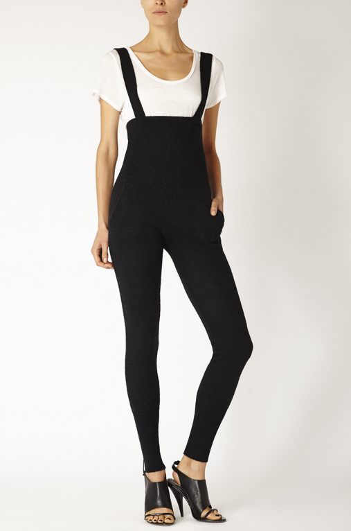High-waisted black overalls from Accompany