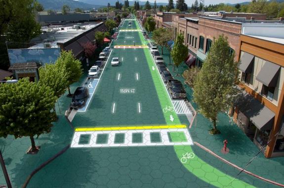 Rendering of solar roadways