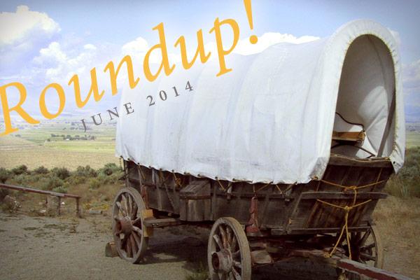 Conestoga wagon with post title