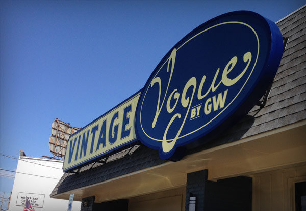 Vintage Vogue exterior sign