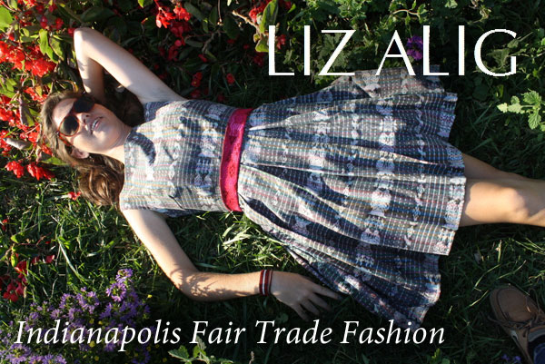 Liz Alig logo and dress