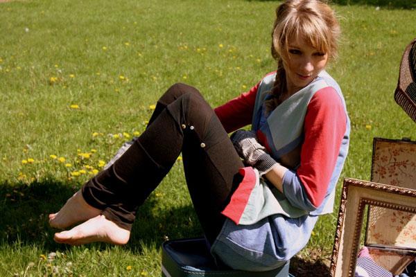 Pieced leggings from Liz Alig
