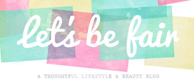Let's Be Fair blog header
