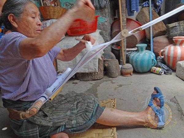 Guatemalan artisan weaving