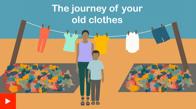 The journey of your old clothes graphic