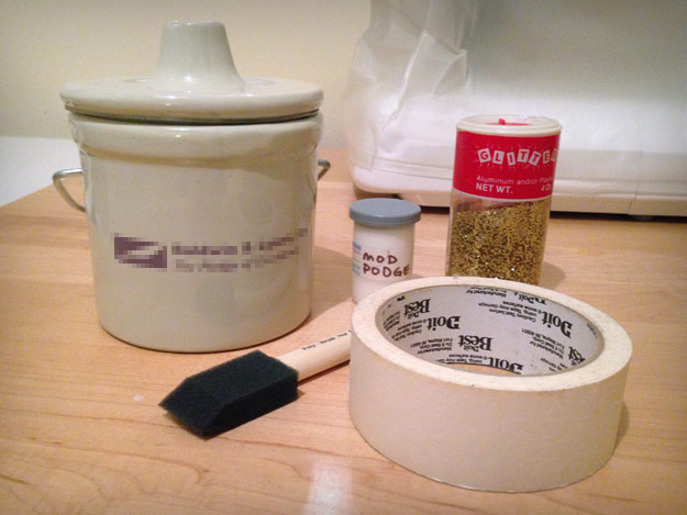 Ceramic crock and supplies