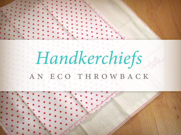 Handkerchiefs: An Eco Throwback over photo of two hankies