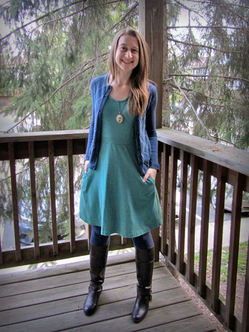 Julia wearing Regina Dress from Liz Alig