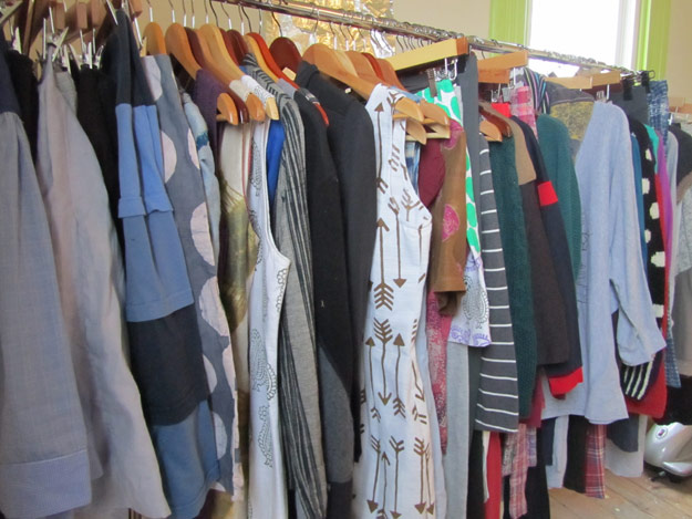 Rack of dresses, skirts and tops