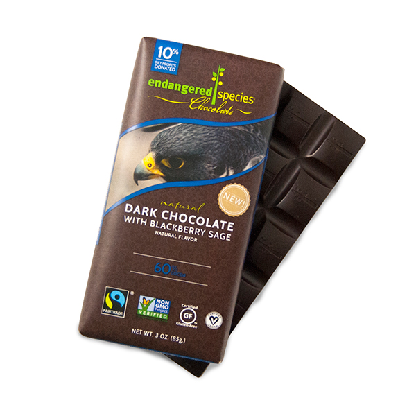 Dark chocolate with blackberry sage chocolate bar