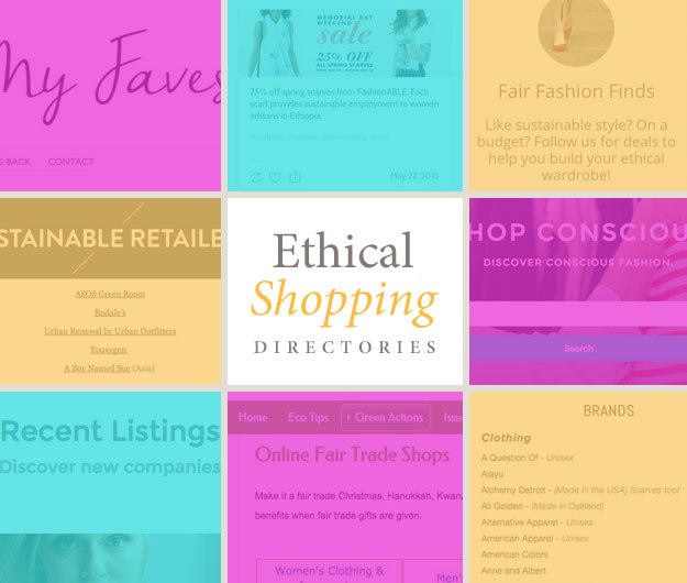 Ethical Shopping Directories header