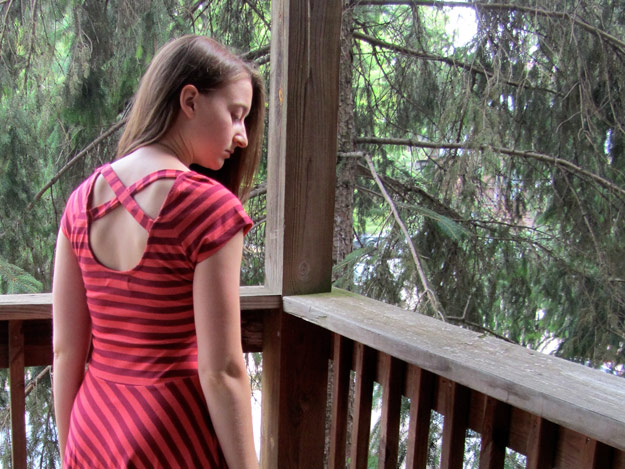 Back view of Karina Dress from Synergy Organic Clothing