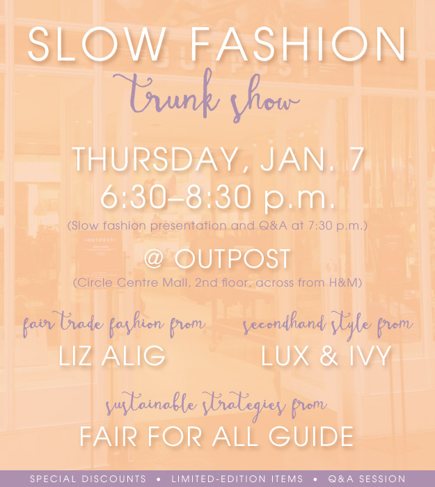 Slow Fashion Trunk Show promo poster