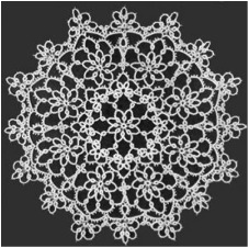 Fancy tatted doily