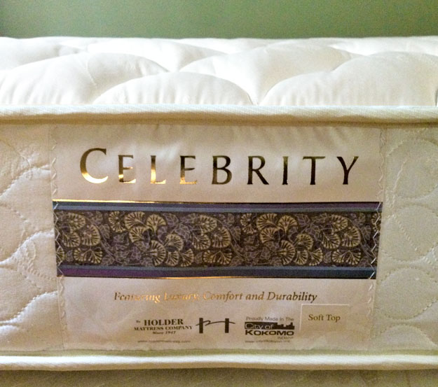 Celebrity mattress label