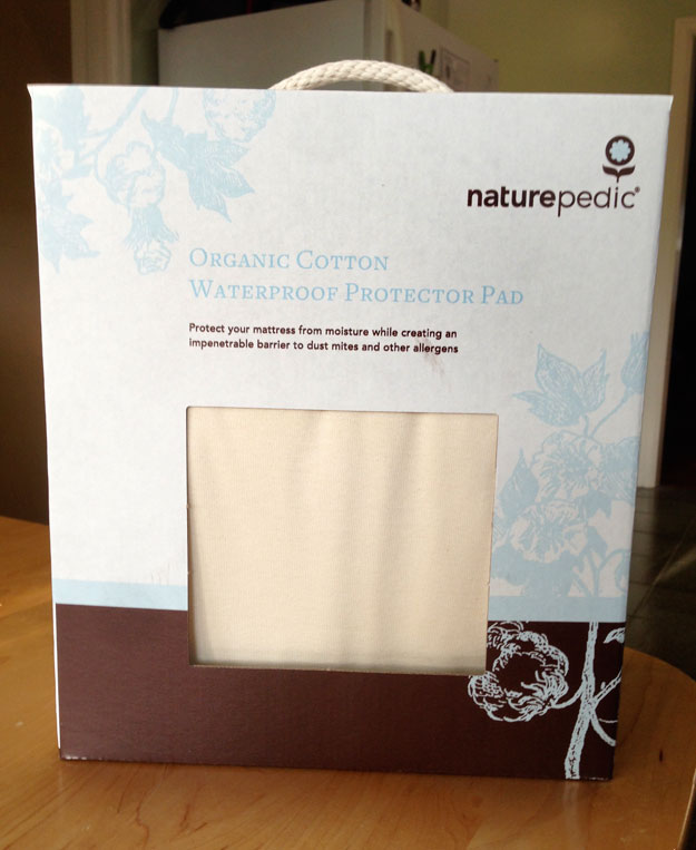 Naturepedic mattress protector in box
