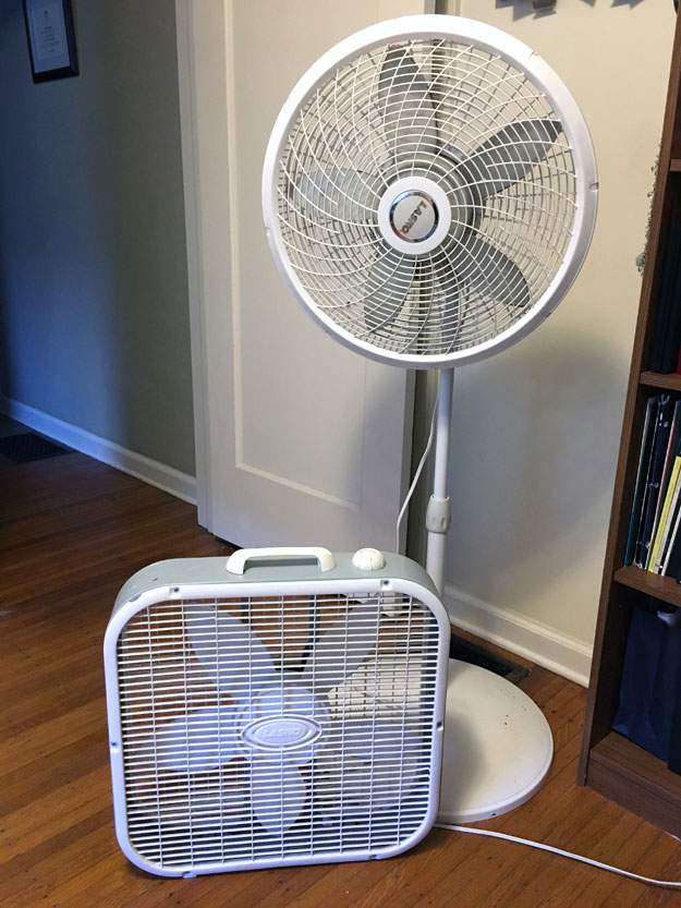 Box fan and stand fan